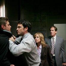 Jensen Ackles, Jason Gedrick, Linda Blair e Andy Stahl nell'episodio I soliti sospetti della serie tv Supernatural