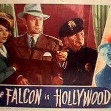 Una lobbycard promozionale de Il Falco a Hollywood