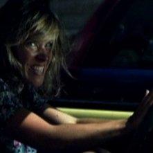 Francesca Faiella in una sequenza del cortometraggio Clacson