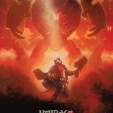 La locandina di Hellboy 2 in versione limitata, distribuita al New York Comic Con