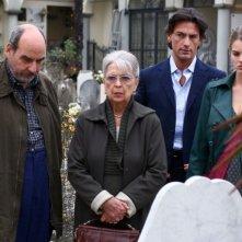 Isa Barzizza, Paolo Lombardi, Vanessa Hessler e Roberto Farnesi in una scena 'Per una notte d'amore'