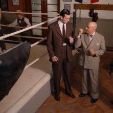 Andrea Iaia, F. Murray Abraham e Paolo Seganti in una scena di 'Carnera'