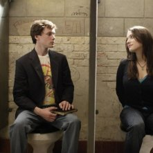 Anton Yelchin e Kat Dennings in una sequenza del film Charlie Bartlett
