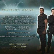Il menù del contenuti speciali di Stargate - L'arca della verità