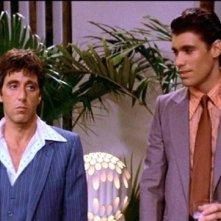 Al Pacino e Steven Bauer in una scena di SCARFACE