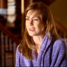Ellen Pompeo nel ruolo di Meredith Grey, nel primo episodio della serie tv Grey's Anatomy: 'Quando il gioco si fa duro'