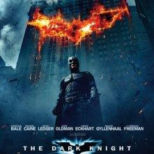 La locandina di The Dark Knight con Batman
