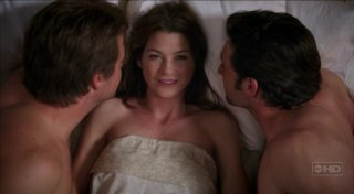 Chris O'Donnell, Ellen Pompeo e Derek Dempsey nell'episodio 'Fantasie' della serie Grey's Anatomy