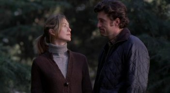 Ellen Pompeo e Patrick Dempsey nell'episodio 'Baind-Aid Covers the Bullet Hole' della serie tv Grey's Anatomy