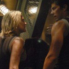 Katee Sackhoff e Michael Trucco in una scena dell'episodio 'The Road Less Travelled' della quarta stagione di Battlestar Galactica