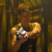Michael Trucco in una scena dell'episodio 'The Road Less Travelled' della quarta stagione di Battlestar Galactica