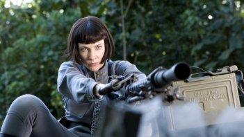 Cate Blanchett in una scena del film Indiana Jones e il regno del Teschio di cristallo