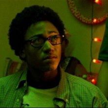 Percy Daggs III in una scena dell'episodio 'Un nuovo ragazzo ' della prima stagione di 'Veronica Mars'