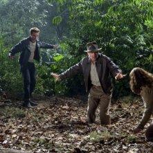 Shia Labeouf, Harrison Ford e Karen Allen in una sequenza del film Indiana Jones e il regno del Teschio di cristallo