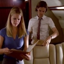 A.J. Cook e Matthew Gray Gubler, interpretano J.J. e Spencer, nell'episodio 'Scared to Death' della serie tv Criminal Minds