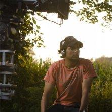 Il regista M. Night Shyamalan sul set del film E venne il giorno (The Happening)