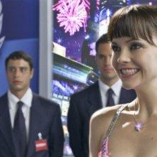 Una raggiante Christina Ricci in una scena del film Speed Racer