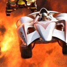 Emile Hirsch in una scena del film Speed Racer
