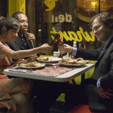 Melonie Diaz, Mos Def e Jack Black in una scena del film Be Kind Rewind