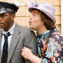 Mos Def e Jack Black in una sequenza del film Be Kind Rewind in cui rifanno A spasso con Daisy