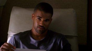 Shemar Moore, nel ruolo dell'agente Derek Morgan, specializzato in crimini ossessivi, nell'episodio 'Plain Sight' della serie Criminal Minds