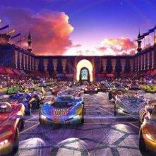 Una suggestiva immagine del film Speed Racer