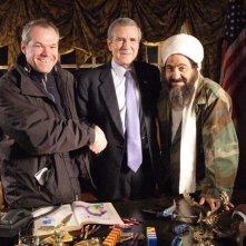 Il regista Uwe Boll, Larry Thomas e Brent Mendenhall in una foto sul set di Postal