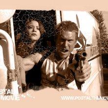 Wallpaper del film Postal con una scena del film