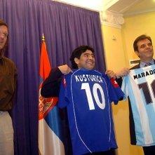 Maradona e Kusturica in una scena del documentario Maradona by Kusturica