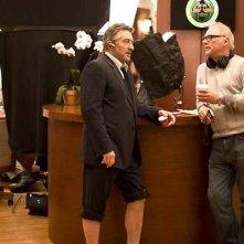 Robert De Niro e Barry Levinson sul set del film What Just Happened?
