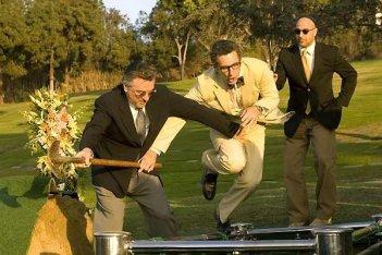 Robert De Niro, John Turturro e Stanley Tucci in una scena del film What Just Happened?