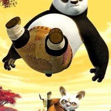 Una scena del film d'animazione Kung Fu Panda con protagonista Po