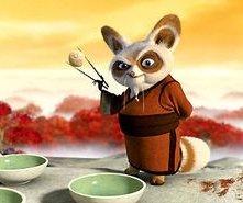 Una scena del film Kung Fu Panda