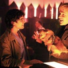 Bob Hoskins, Riccardo Scamarcio e Matthew Modine in una scena del film Go Go Teles