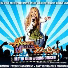 Wallpaper del film Hannah Montana/Miley Cyrus: Best of Both Worlds Concert Tour