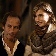 Anne Consigny e Hippolyte Girardot in una scena del film Un conte de Noël