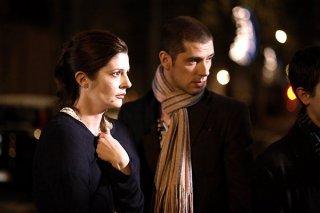 Chiara Mastroianni e Melvil Poupaud in una sequenza del film Un conte de Noël