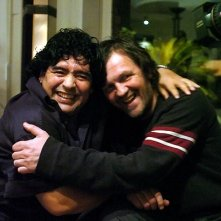Diego Armando Maradona e il regista Emir Kusturica in una sequenza del documentario Maradona by Kusturica