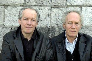 I fratelli Jean-Pierre e Luc Dardenne sul set del film Le silence de Lorna
