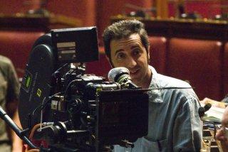 Paolo Sorrentino sul set del film Il Divo