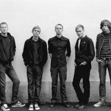 Odd Magnus Williamson, Espen Klouman-Høiner, Anders Danielsen Lie, Christian Rubeck e Pål Stokka in una foto promozionale del film Reprise