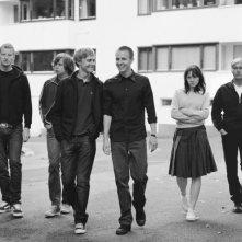 Odd Magnus Williamson, Pål Stokka, Espen Klouman-Høiner, Anders Danielsen Lie, Viktoria Winge e Christian Rubeck in una foto promozionale del film Reprise