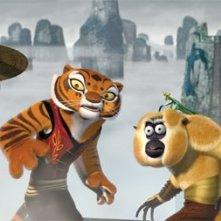Una scena del film d'animazione Kung Fu Panda