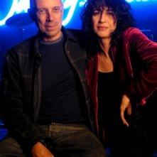 Gabriele Salvatores ed Angela Baraldi sul set di Quo Vadis, Baby?
