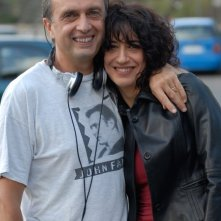 Guido Chiesa ed Angela Baraldi sul set di Quo Vadis, Baby?