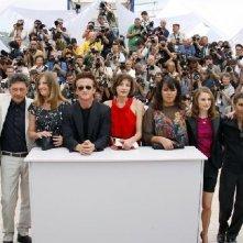 La giuria del 61esimo Festival di Cannes: il presidente Sean Penn con Cuaron, Castellitto, Lara, Balibar, Satrapi, Portman, Bouchareb e Weerasethakul