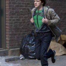 Drake Bell in una scena d'azione del film Superhero Movie