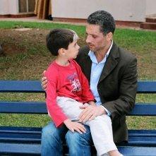 Giuseppe Fiorello ed il piccolo Riccardo Nicolosi in 'Il bambino della domenica'