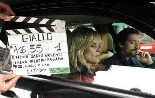 Adrien Brody ed Emmanuelle Seigner sul set di 'Giallo'