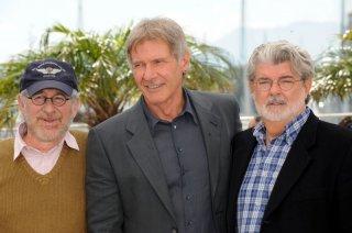 Cannes 2008: George Lucas, Steven Spielberg e Harrison Ford pal photo-call per Indiana Jones e il Regno del Teschio di Cristallo